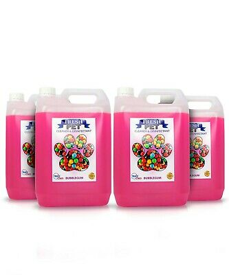 4 X 5L FRESH PET Kennel/Cattery Disinfectant, Cleaner, Deodoriser - BUBBLE GUM