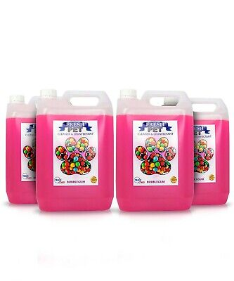 Fresh Pet  Disinfectant And Cleaner - Animal Safe - 4 X 5L -Bubblegum -Prefilled