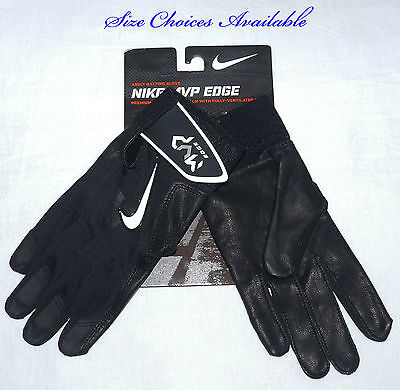 Nike MVP EDGE Men's Black/White Swoosh Batting Gloves -Size Choices