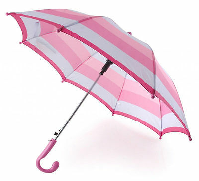 513199 Drizzles Childs Pink Striped Umbrella
