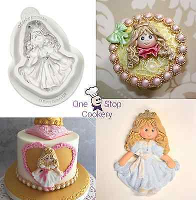 Katy Sue Designs Sugar Buttons Character PRINCESS Silicone Mould FREE P&P