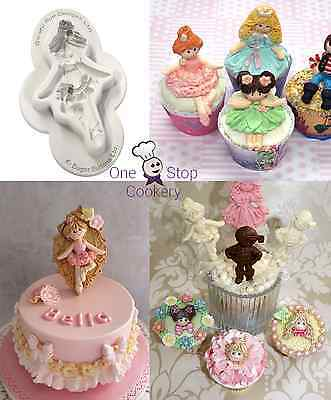 Katy Sue BALLERINA Sugar Buttons Character Silicone Mould  £12 FREE P&P