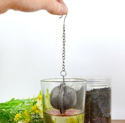 Tea Ball Stainless Steel Sphere Mesh Strainer Filter Spice Infuser Soup W2F