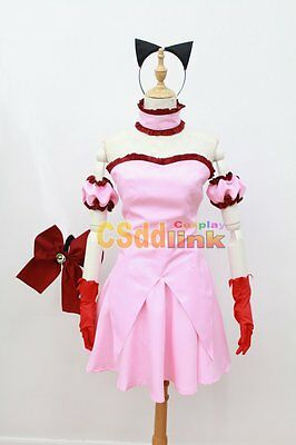 Tokyo Mew Mew Power Zoey Cosplay pink Costume with tail(US)