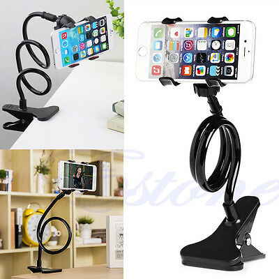 Universal Lazy Bed Desktop Mount Car Stand Holder For Cell Phone Long Arm Useful