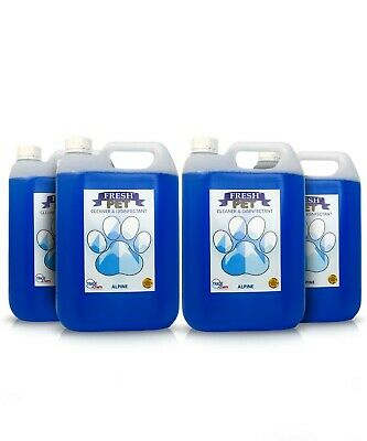4 X 5L FRESH PET Kennel/Cattery Disinfectant, Cleaner, Deodoriser -ALPINE FRESH