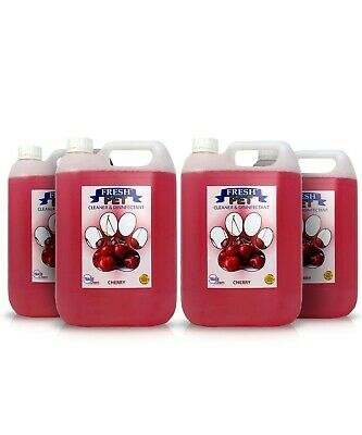 Fresh Pet  Disinfectant And Cleaner - Animal Safe - 4 X 5L - Cherry  - Prefilled