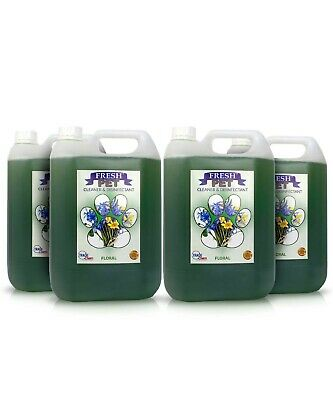4 X 5L FRESH PET Kennel/Cattery Disinfectant, Cleaner, Deodoriser -FLORAL