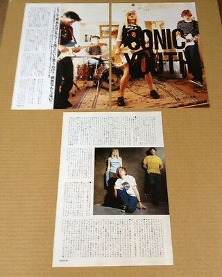 1992 Sonic Youth 4 page 2 photo JAPAN mag article / press clipping j10r