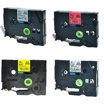 4PK TZe TZ 131 231 431 631 Label Tape For Brother P-touch PT-550 PT-580C 6100