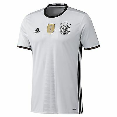 adidas Mens Germany Football Team Home Shirt Jersey Kit Top T-Shirt 2016 White