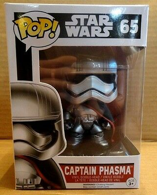 CAPTAIN PHASMA 65 Funko POP STAR WARS vinyl figure New In Package HARD TO FIND