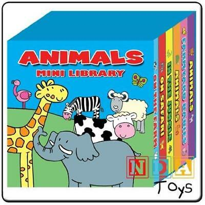 Animals Mini Library Set of 6 Board Books -Children's Early Learning Education