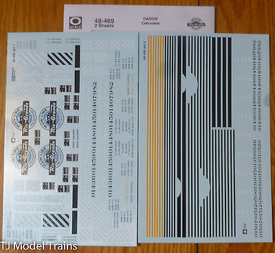 Microscale Decal O #48-469 D&RGW Caboose (Decal Sheets) 1940-1972