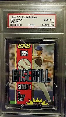 1994 Topps Baseball Series 1 Foil Pack PSA 10 Gem Mint