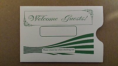 """Hotel Keycard Envelope/ Sleeve """" Welcome Guests"""" 2-3/8"""" x 3-1/2""""5000CT (KCC220G)"""