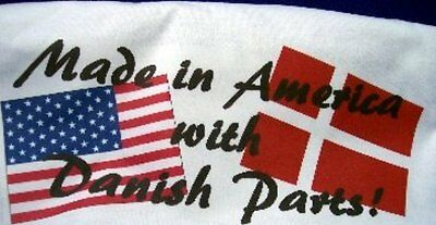 Denmark T-Shirt - Made in America with Danish Parts - Short Sleeve