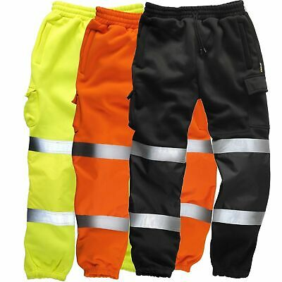 HI-LIGHT Premium Hi Viz JOGGING BOTTOMS Combat Trousers Workwear Hi Vis Joggers