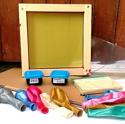 Print your own balloons at home Silkscreen, balloons, ink, help & support