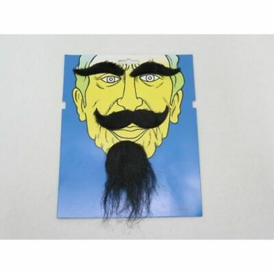 Black Fake Beard Mustache Eyebrows Self Adhesive Facial Hair set.