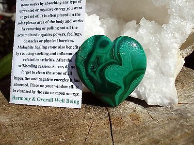 Malachite Heart-From Delightful Heart-Emerald Green-Strong Heart Energy!