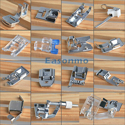 New Multiple Domestic Sewing Machine Foot Feet Bobbin For Brother Singer Toyota
