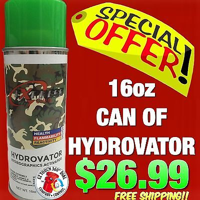 Hydrographics Activator Water Transfer Printing Film Hydro Dipping Dip Kit Spray