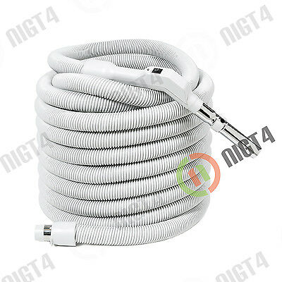 Central Vacuum 40 Ft Non-Electric Light-weight Hose On/Off Switch
