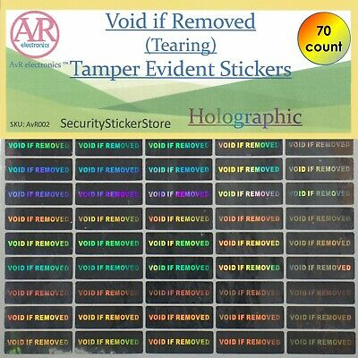 VOID IF REMOVED Tamper Proof sticker Security Stickers labels (AVR002)