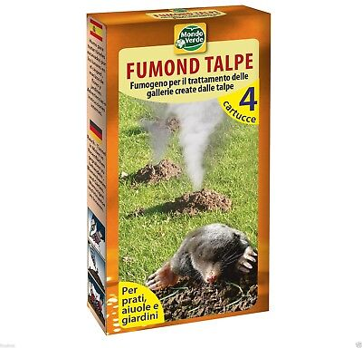 1 Pack of 4 Units Professional Blind mole Mole Smoke Repellent (Up to 50m²).