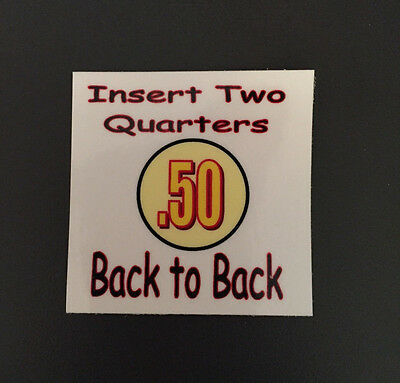 8   .50 cent Back to Back Vending Label Price Stickers Candy Gumball