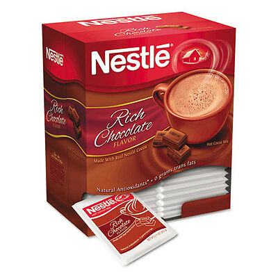 Instant Hot Cocoa Mix, Rich Chocolate, 0.71 oz Packets, 50/Box, 6 Box/Carton