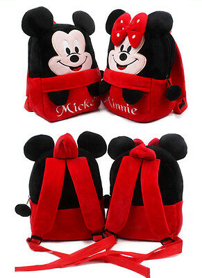 Minnie Mickey Kids Baby Boys Girls Backpacks Cartoon Pre-primary School Bag &1