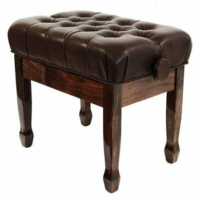 Cadenza Adjustable Cushioned Deluxe Piano Stool (Polished Walnut)FS506PW