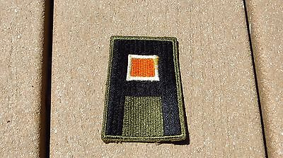ORIGINAL US ARMY WW2 PATCH SSI 1ST Signal Corps Insignia Cut Edge Green Back