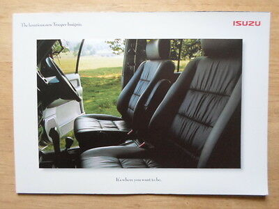 ISUZU TROOPER INSIGNIA 4X4 orig 1999-2000 UK Mkt Sales Brochure