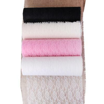 """6/""""x10yards Lace Net Roll Runner Mesh Chair Sash Ties Wedding Party Table Decor"""