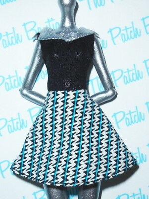 MONSTER HIGH FRANKIE STEIN HOME ICK DOLL OUTFIT REPLACEMENT RETRO 60s DRESS ONLY