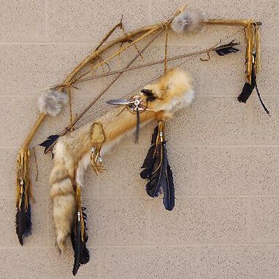 Native American Red Fox Quiver Bow and Arrows