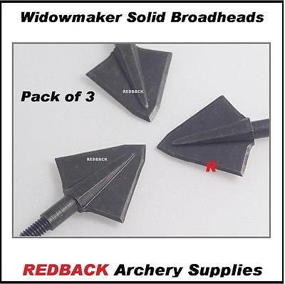 Widowmaker Solid Broadhead 175 grn 3 pack for bowhunting arrows