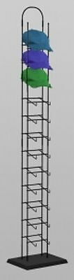 For Sale 12 Tier Cap Product Tower Display Hold Up To 6-8 Cap Per Tier (Black)