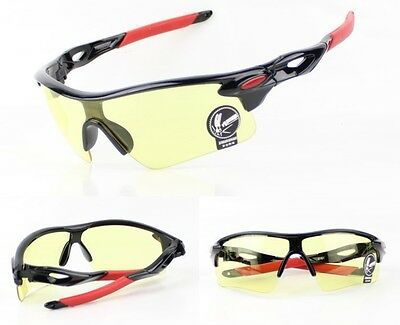 Shooting Glasses High Impact Sports Yellow Shatterproof Safety Cycling Specs