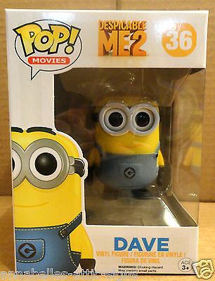 DAVE 36 Funko POP Despicable Me vinyl figure New In Package HARD TO FIND RARE