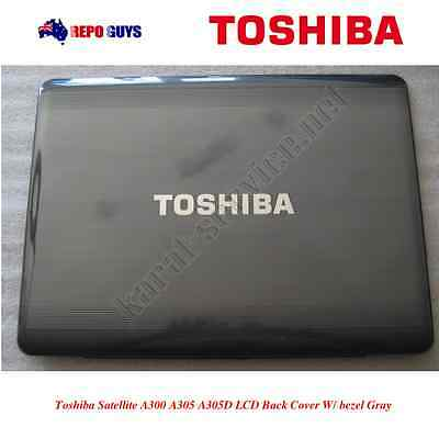 Toshiba Satellite A300 A305 A305D LCD Back Cover W/ bezel Gray