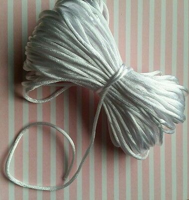 5m 2mm white nylon cord for diy silicone necklaces lanyards id badge