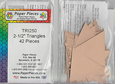 """2.5"""" Equilateral Triangles - EPP papers pack - 42 pieces"""