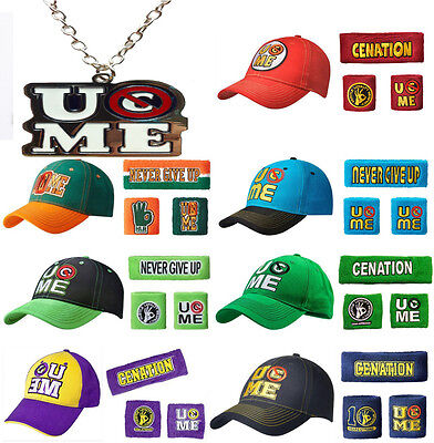 John Cena You U Can't See Me Necklace Baseball Cap Hat Sweatbands Wristbands
