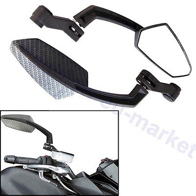 Universal Custom Motorcycle Motorbike Moped Scooter Parts Wing Mirrors 8mm 10mm