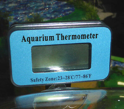 Thermometer für Aquarien, digitale LCD-Anzeige, flexible Montage