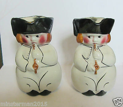 Pair Of Ceramic Staffordshire? Character Jugs Hand Painted